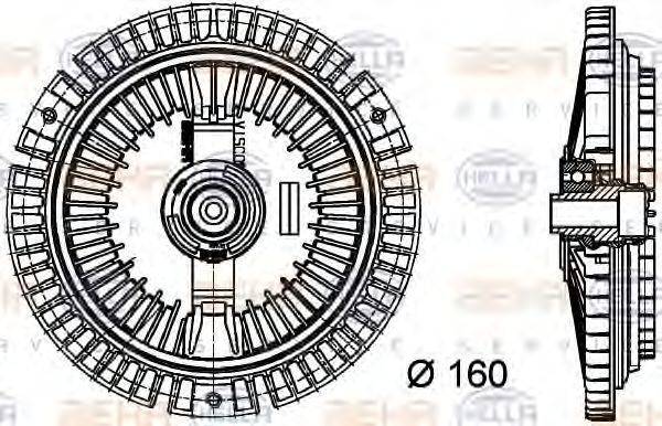 Сцепление, вентилятор радиатора BEHR 8MV376732351