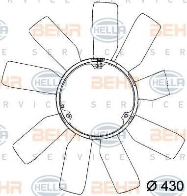 Крыльчатка вентилятора, охлаждение двигателя BEHR 8MV376741181