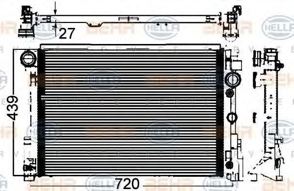 Радиатор, охлаждение двигателя BEHR 8MK376749554