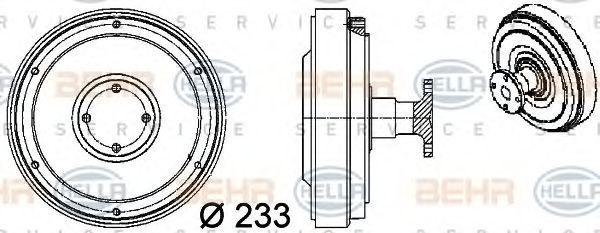 Сцепление, вентилятор радиатора BEHR 8MV376757091