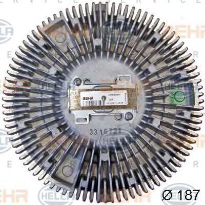 Сцепление, вентилятор радиатора BEHR 8MV376757701