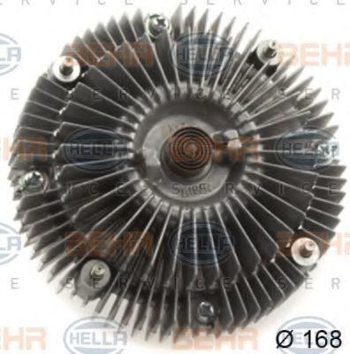 Сцепление, вентилятор радиатора BEHR 8MV376758721