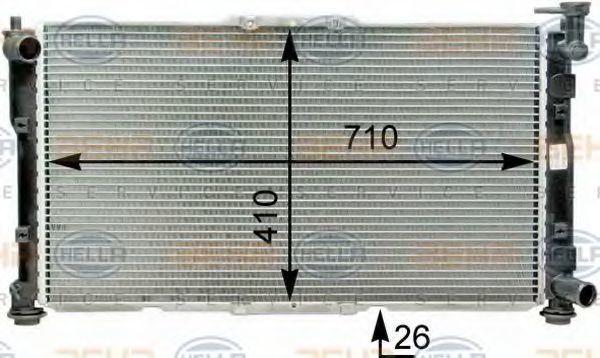 Радиатор, охлаждение двигателя BEHR 8MK376763441