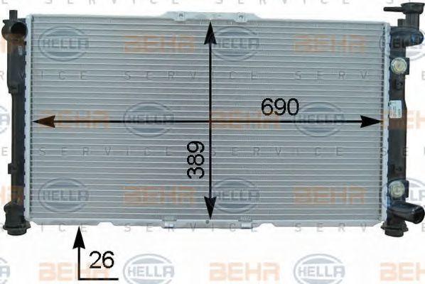 Радиатор, охлаждение двигателя BEHR 8MK376763451