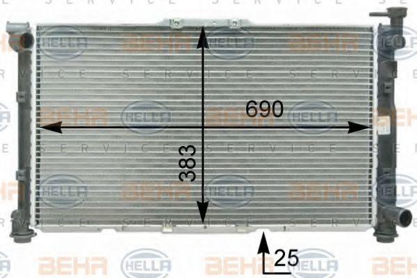 Радиатор, охлаждение двигателя BEHR 8MK376763461