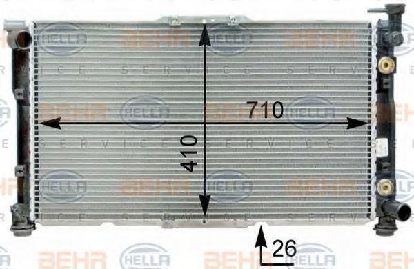 Радиатор, охлаждение двигателя BEHR 8MK376763471