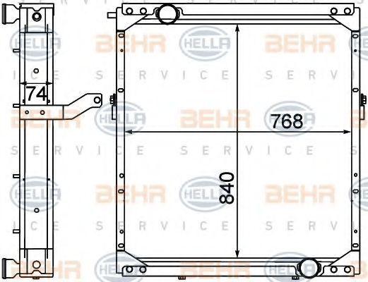 Радиатор, охлаждение двигателя BEHR 8MK376774501