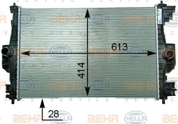 Радиатор, охлаждение двигателя BEHR 8MK376910301