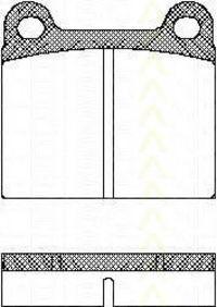 Комплект тормозных колодок, дисковый тормоз TRISCAN 811010201