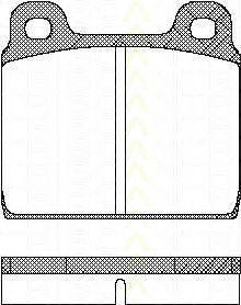 Комплект тормозных колодок, дисковый тормоз TRISCAN 811010203