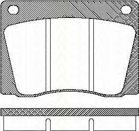Комплект тормозных колодок, дисковый тормоз TRISCAN 811010415