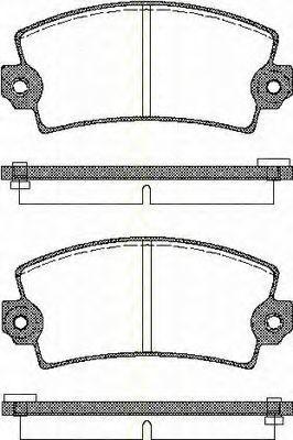 Комплект тормозных колодок, дисковый тормоз TRISCAN 811010732