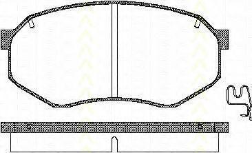 Комплект тормозных колодок, дисковый тормоз TRISCAN 811010895