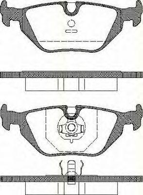 Комплект тормозных колодок, дисковый тормоз TRISCAN 811011001