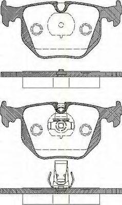 Комплект тормозных колодок, дисковый тормоз TRISCAN 811011005