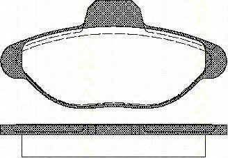 Комплект тормозных колодок, дисковый тормоз TRISCAN 811015001