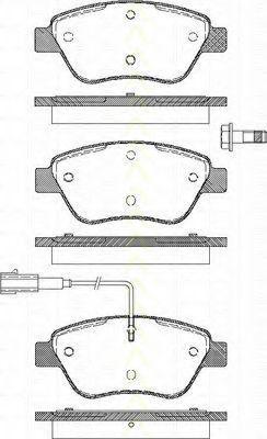 Комплект тормозных колодок, дисковый тормоз TRISCAN 811015019