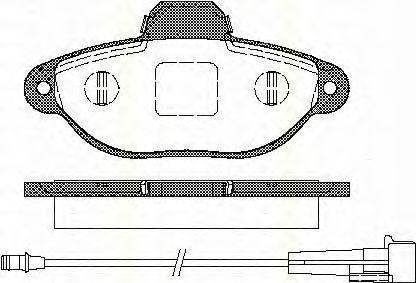 Комплект тормозных колодок, дисковый тормоз TRISCAN 811015176