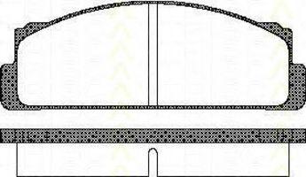 Комплект тормозных колодок, дисковый тормоз TRISCAN 811015504