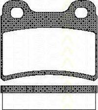 Комплект тормозных колодок, дисковый тормоз TRISCAN 811016165