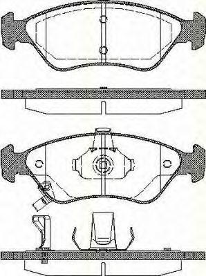Комплект тормозных колодок, дисковый тормоз TRISCAN 811018002