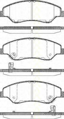 Комплект тормозных колодок, дисковый тормоз TRISCAN 811018005