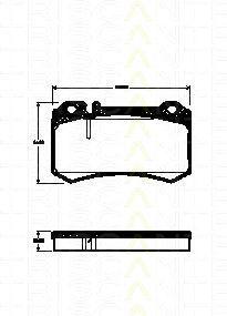Комплект тормозных колодок, дисковый тормоз TRISCAN 811023039