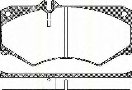 Комплект тормозных колодок, дисковый тормоз TRISCAN 811023774