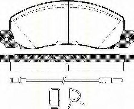 Комплект тормозных колодок, дисковый тормоз TRISCAN 811025846