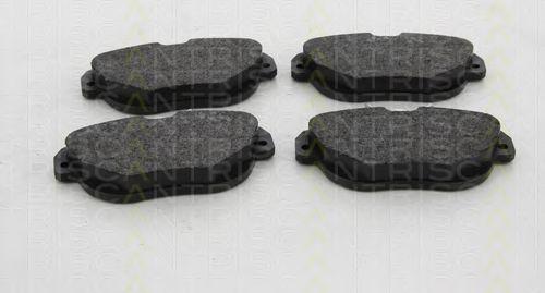 Комплект тормозных колодок, дисковый тормоз TRISCAN 811028045