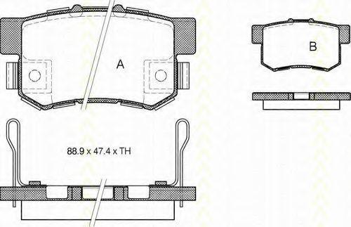 Комплект тормозных колодок, дисковый тормоз TRISCAN 811040058