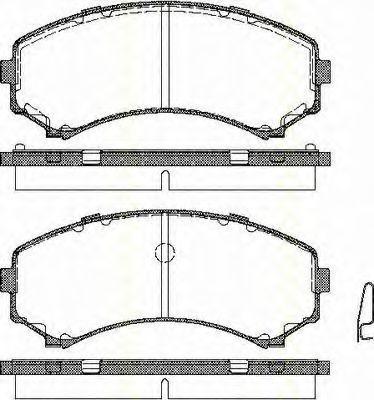 Комплект тормозных колодок, дисковый тормоз TRISCAN 811042017