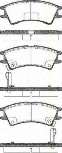 Комплект тормозных колодок, дисковый тормоз TRISCAN 811043007