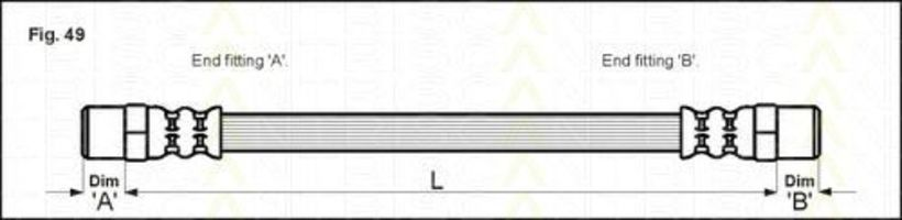 Шланг тормозной TRISCAN 8150-10102