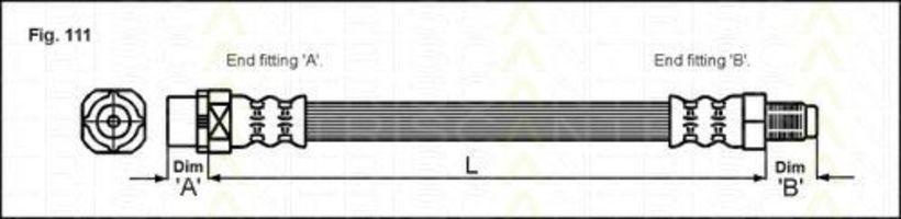 Тормозной шланг TRISCAN 815011104