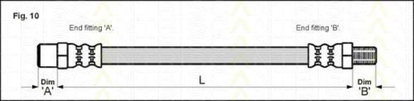 Шланг тормозной TRISCAN 815011202