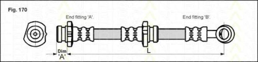 Шланг тормозной TRISCAN 8150-14135