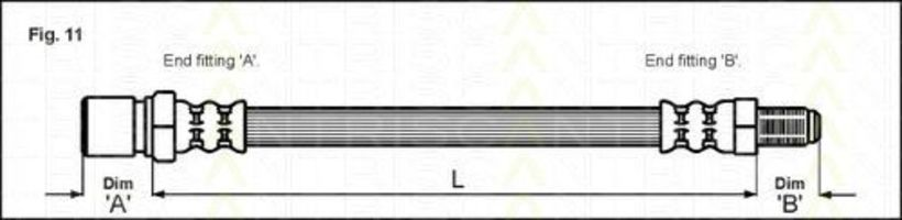 Шланг тормозной TRISCAN 8150-15202