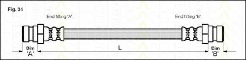 Шланг тормозной TRISCAN 8150-15204