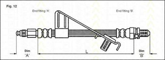Тормозной шланг TRISCAN 815016128