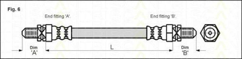 Шланг тормозной TRISCAN 815016213
