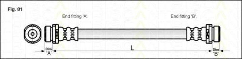 Шланг тормозной TRISCAN 8150-16217