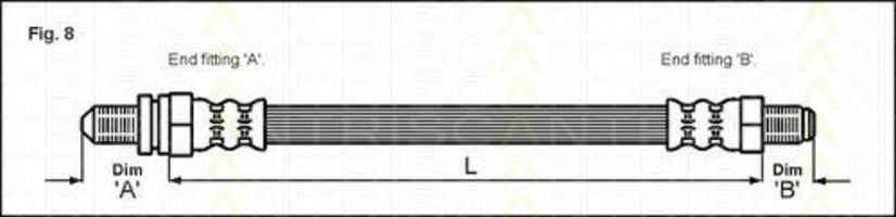 Шланг тормозной TRISCAN 8150-16226