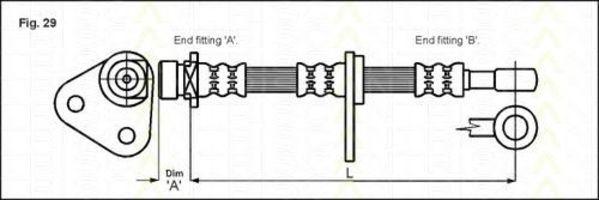 Тормозной шланг TRISCAN 815017104