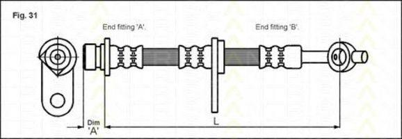 Тормозной шланг TRISCAN 815017205