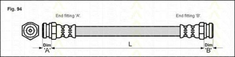 Шланг тормозной TRISCAN 815018200