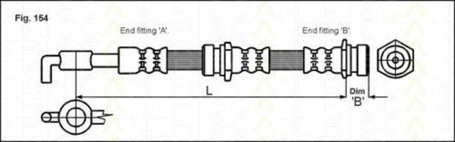 Шланг тормозной TRISCAN 8150 18204