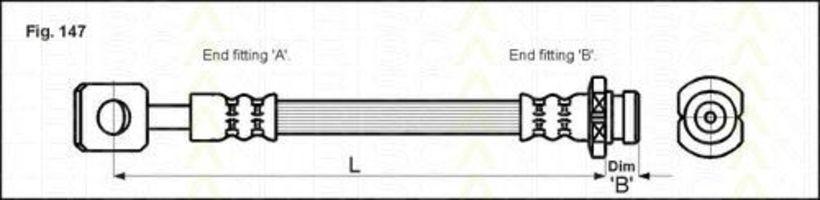 Шланг тормозной TRISCAN 8150 21101