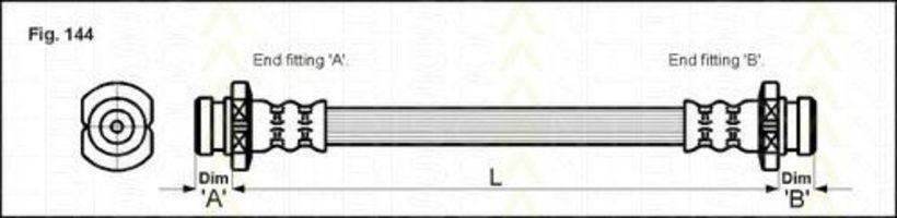 Шланг тормозной TRISCAN 8150-21202