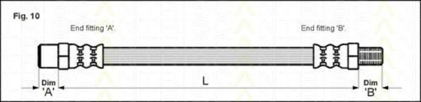 Шланг тормозной TRISCAN 8150-23001